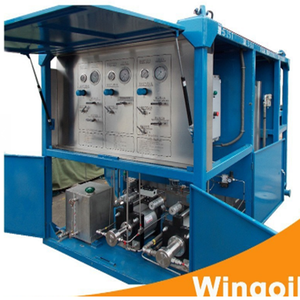 Skid Mounted Pipe Drilling Mud Pressure Test Equipment for Oil Well Sealing  Operation