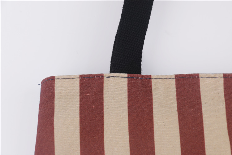Ginzeal Hot Sale Zipper Pocket Shopping Carry Organic Cotton Bag