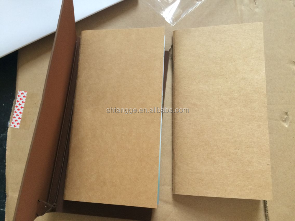 leather kraft wholesale fashion specialized paper notebook