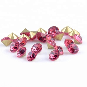 Factory Wholesale Colored Crystal Glass Chaton Stone Point Back Strass Rhinestone