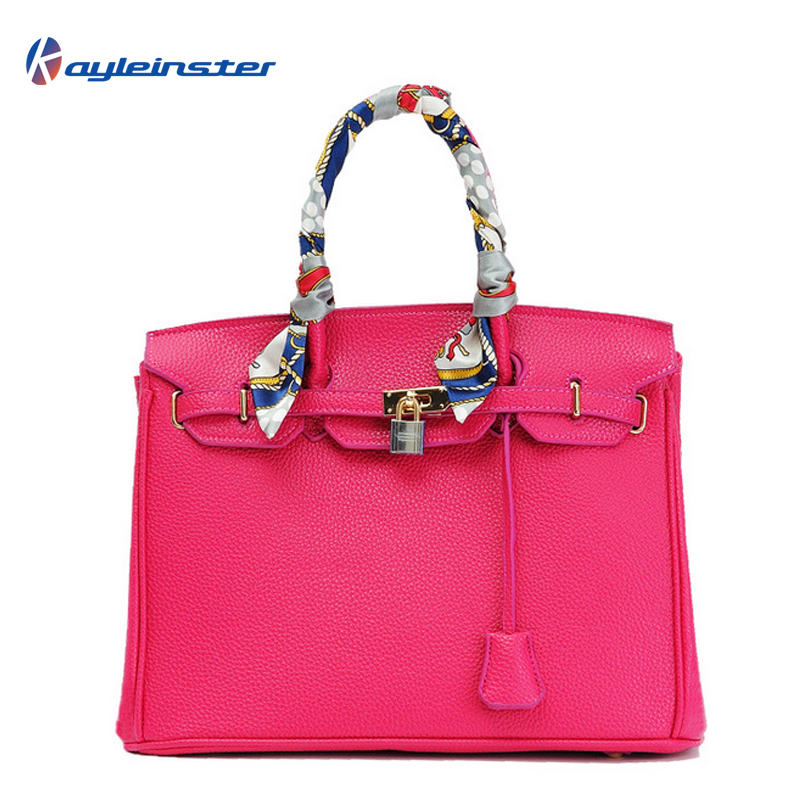 New 2015 Famous Brand Classic Women Handbag 100% Genuine Leather Fashion Embossed Tote Platinum Bag Bolsa Feminina Free Shipping