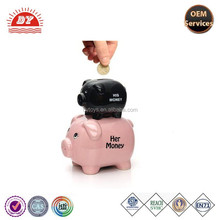 ICTI Toy Manufacturer Custom Made Novelty Large Plastic Coin Saving Piggy Bank Money Jar For Kids