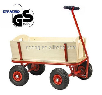 Wooden Garden Cart Kid Wagon With Wood Panels TC1812