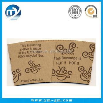 Custom Paper Cup Sleeve Template - Buy Paper Coffee Cup Sleeves ...