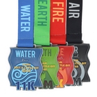 custom Iran water race 11K blue enamel color finisher medal