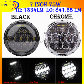 75w 7 Inch Round Led Car Light,Led Auto Sealed Beam,Led Auto Lamp ...