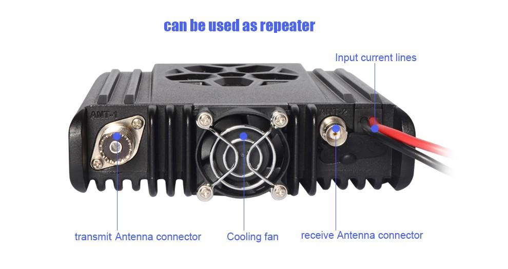 HH9000 Antenna Base ZASTONE D9000 Car Radio 50W Dual Band Mobile Walkie Talkie