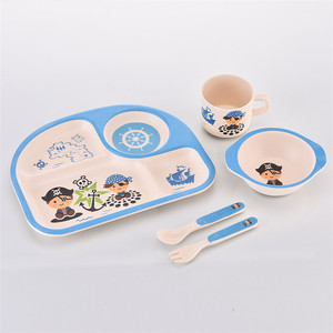 Eco-Friendly High Quality Bamboo Fiber Dinnerware, Biodegradable Tableware for Kids bamboo fiber tableware