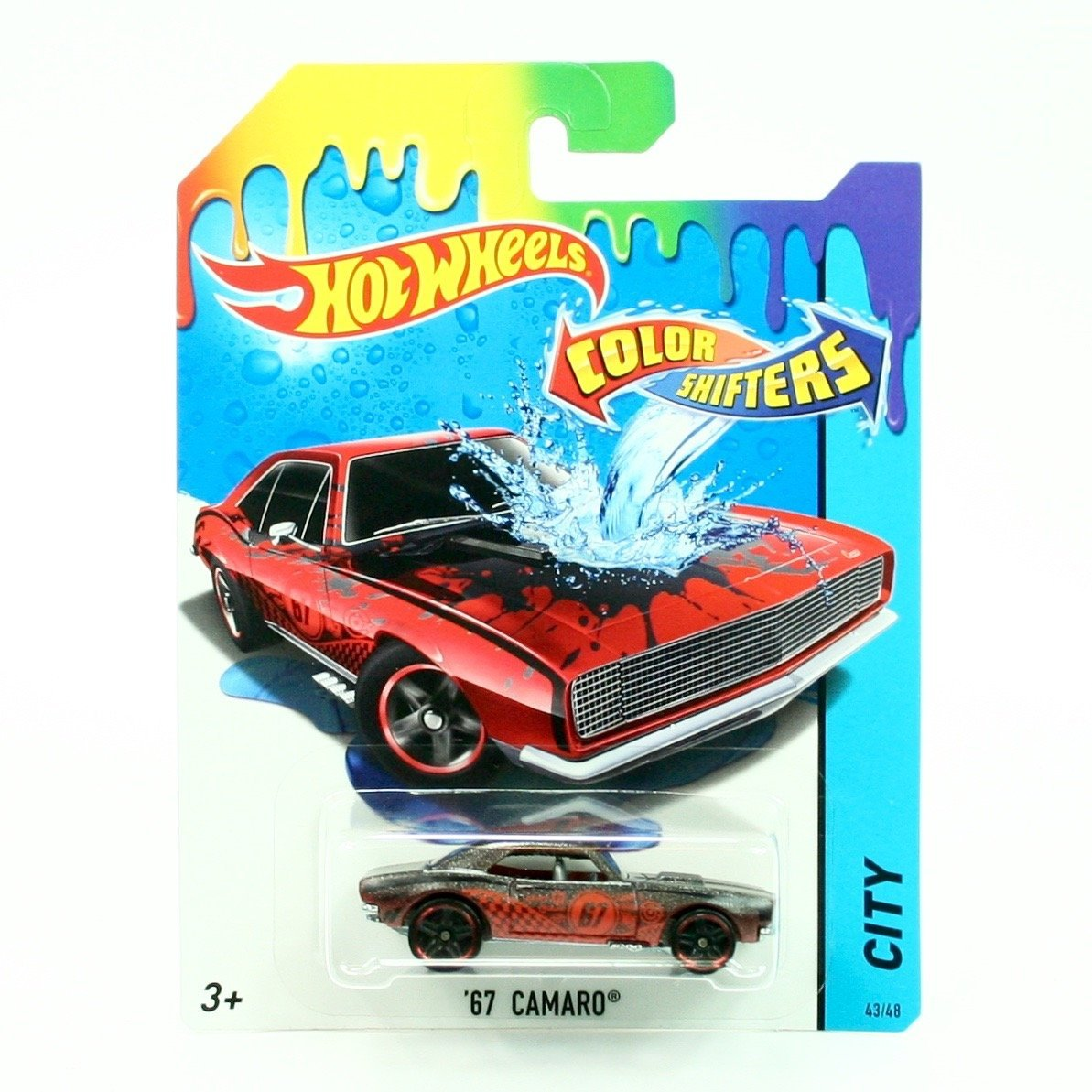 '67 CAMARO * COLOR SHIFTERS * 2015 Hot Wheels City Series 1:64 Scale Vehicle #43/48