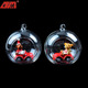 hand blown open hanging glass baubles Christmas decoration xmas tree hanging ornament