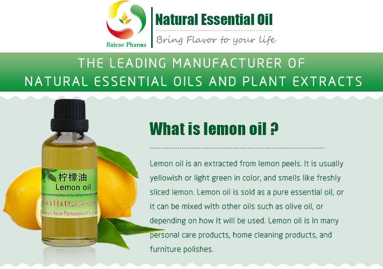 Wholesale Natural Essential Lemon Oil/Leon Peel Oil