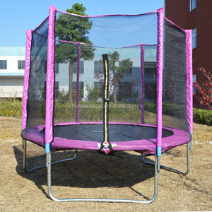 CE Certified Safety High Single Jumping Trampoline Both Suitable for Kids and Adults with Safety Net for Sale