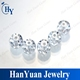 China loose gemstones white faceted zirconia stones cz beads