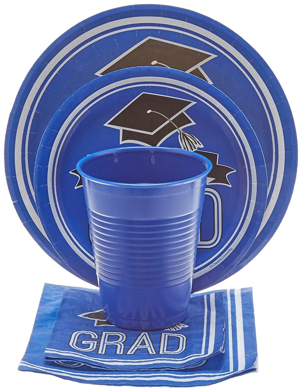 2018 Graduation School Spirit Blue Party Supplies Kit