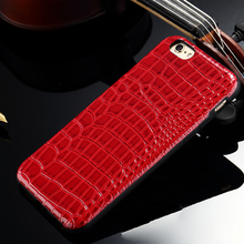 Luxury imitation crocodile PU leather Case For iphone 6 plus 5.5''inch Simple Retro Back Cover Shell Cellphone Protective Casing