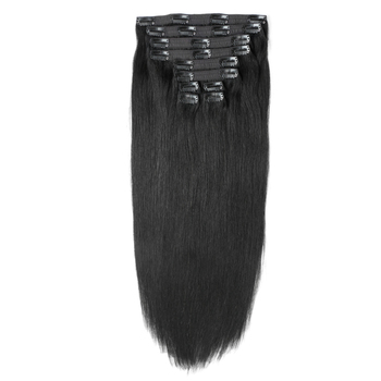 black human hair extensions clip in