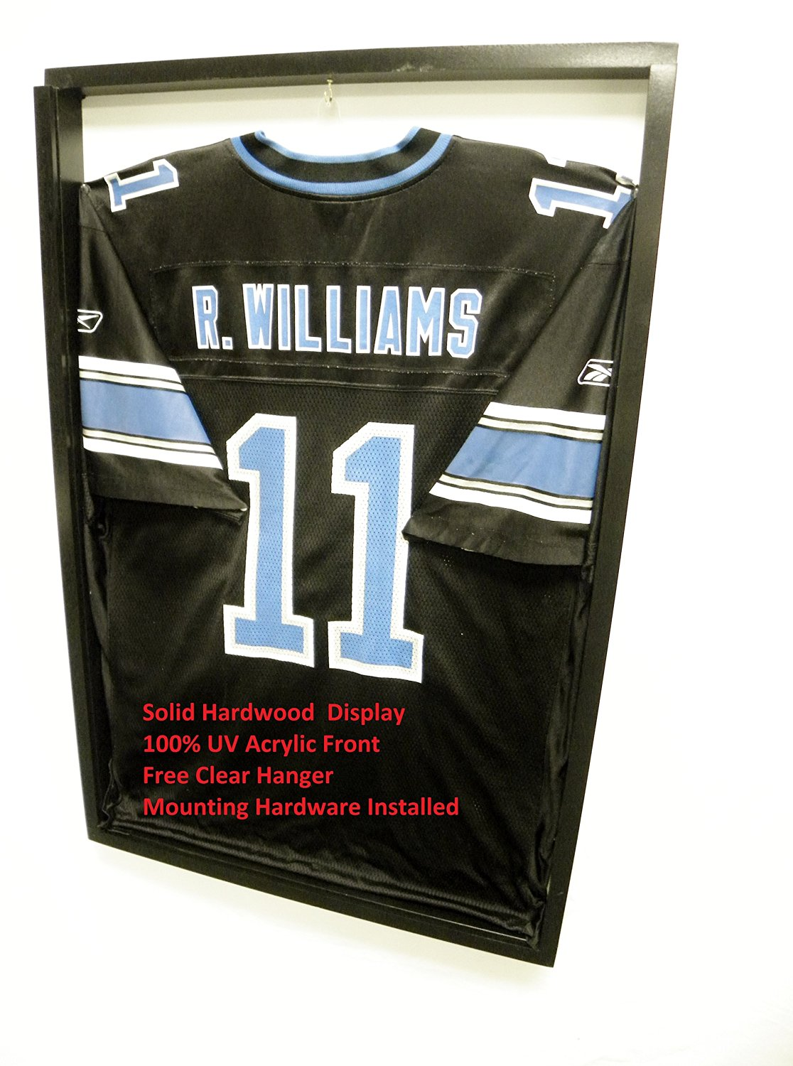 078ef905a JERSEY Display Cases   Frame Shadow Box 3 Jersey Cases Football Baseball  Basketball WHITE 3BSW