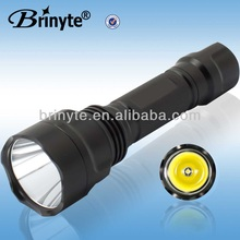 High power waterproof cree led bike flashlight with mount