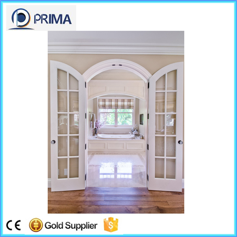 Double Glazed Glass Interior Wooden Rounded Door With Grill Buy
