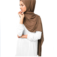 Best cheapest long style muslim cotton jersey scarf plain premium jersey hijab wholesale