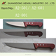 plastic kitchenware knife of PP handle with wood pattern coated