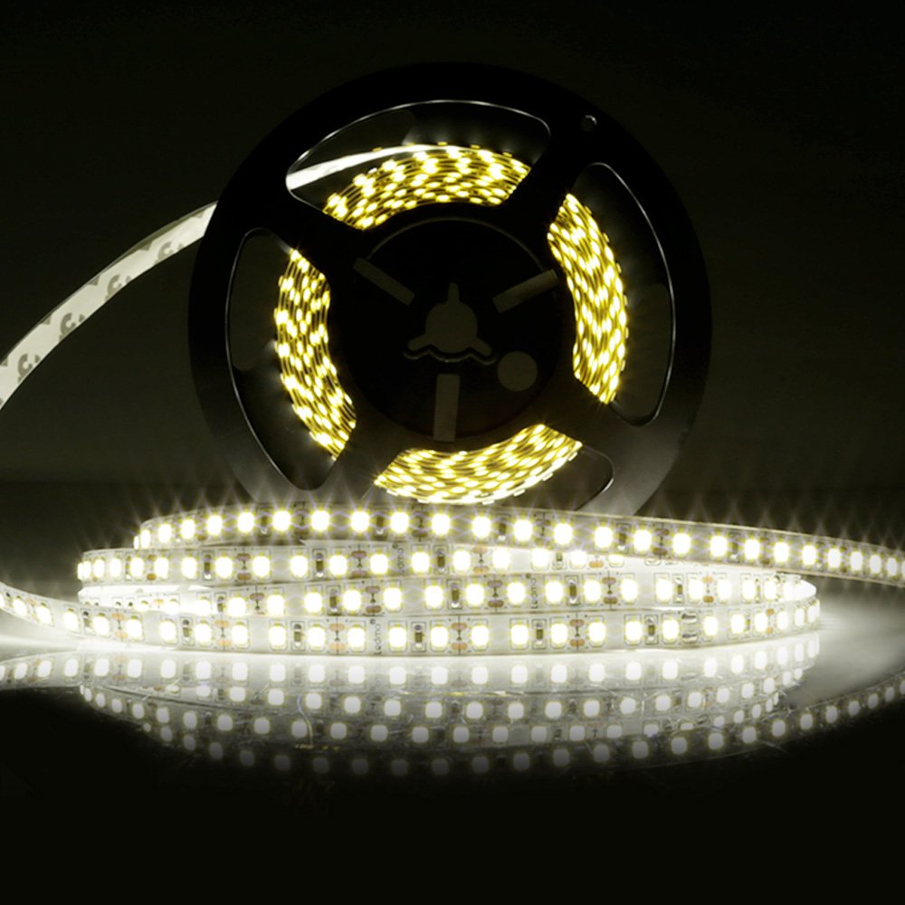 LEDMO LED Strip Lights,DC12V LED Light Strips,600LEDs,Daylight White 6000K, Non-Waterproof,16.4Ft