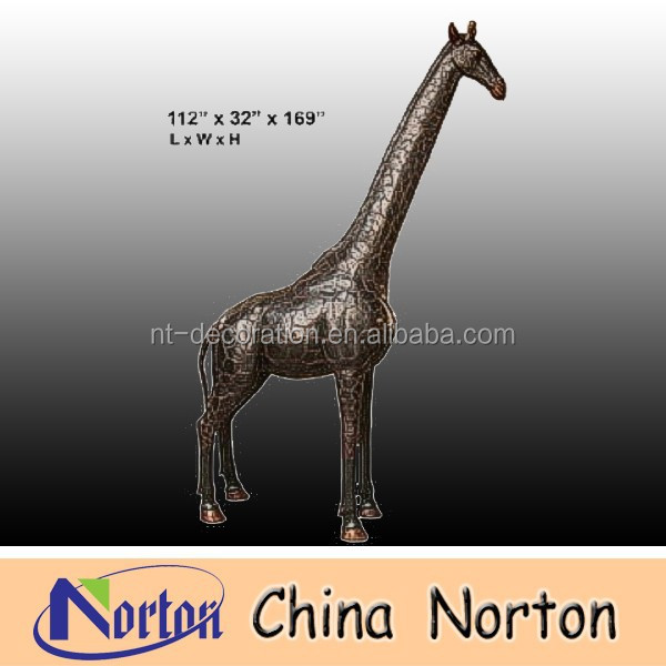 Life size bronze giraffe sculpture for sale NTBA-DG005