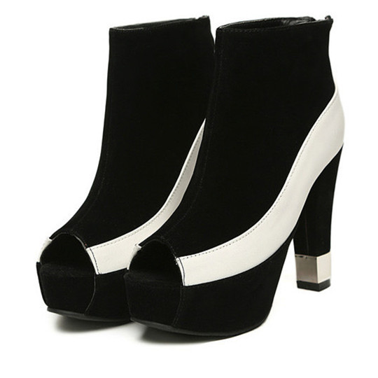9ed88a328 Get Quotations · Suede Fish Head Pump 2014 Nude Patent Leather Lady Peep  Toe Woman Classic Platform Black And