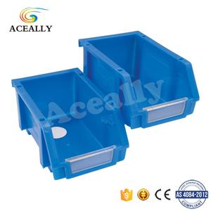Mini Plastic Bins Warehouse Storage Boxes Stacking Bins Plastic Tray for Wholesale