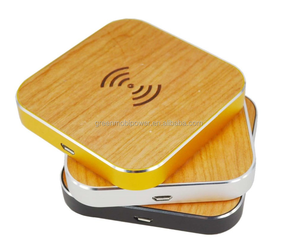 Single charging wooden wireless transmitter /qi wireless charger