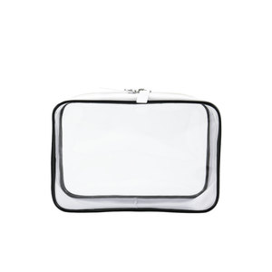 women white waterproof clear pvc zipper toiletry bag travel kit luxury bag makeup bag cosmetic pouch