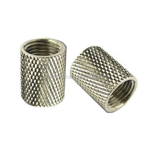 Factory Supply Knurled Internally Threaded Galvanized Steel Tube