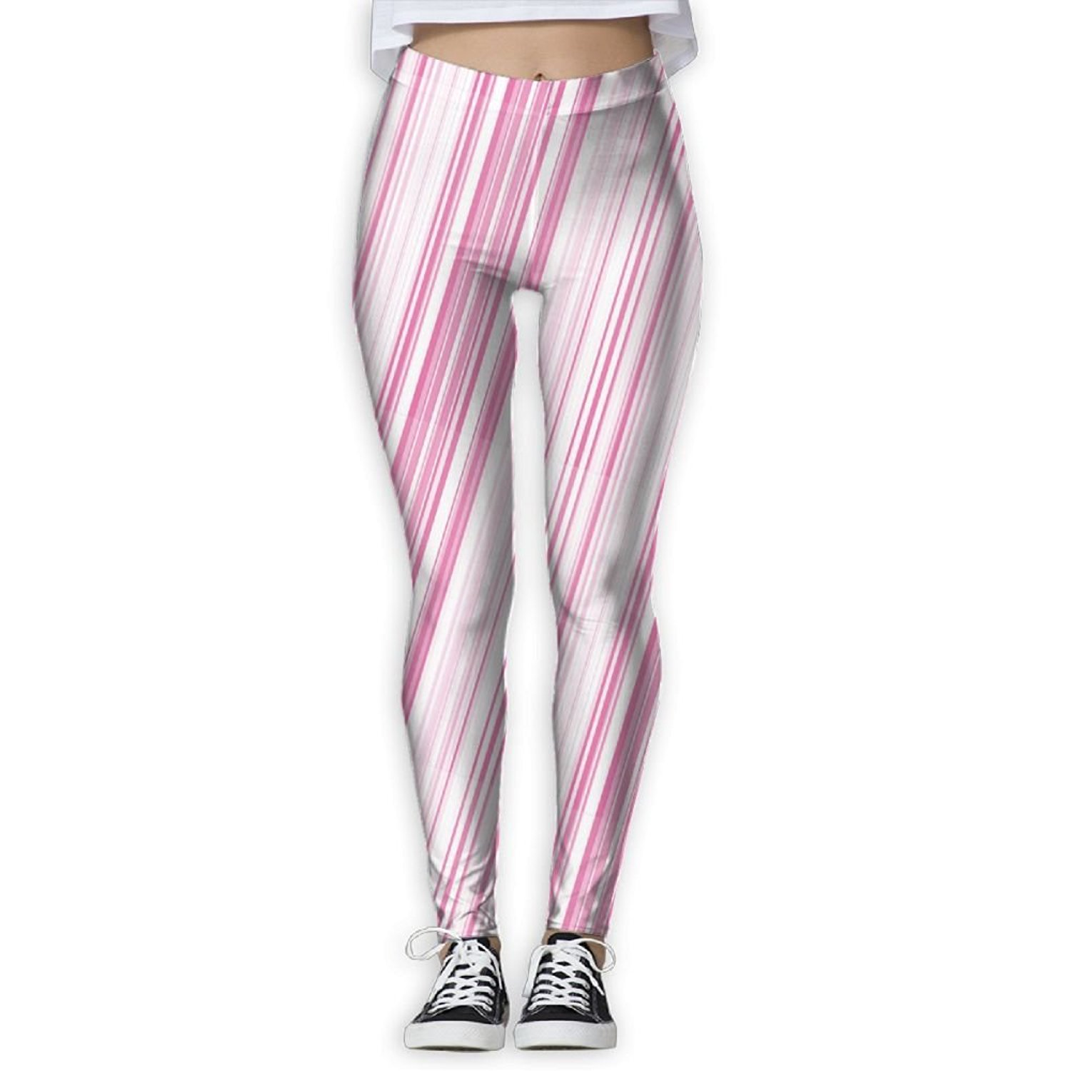 34874431a886a Get Quotations · Wall369sd Womens Vertical Striped Abstract Color Bands  Straight Lines Geometric Artistic Women's Tight Pants Women's Sports