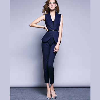 Whole Fashionable Business Suits Women Both Pocket Side Comfortable Bodycon Formal Suit