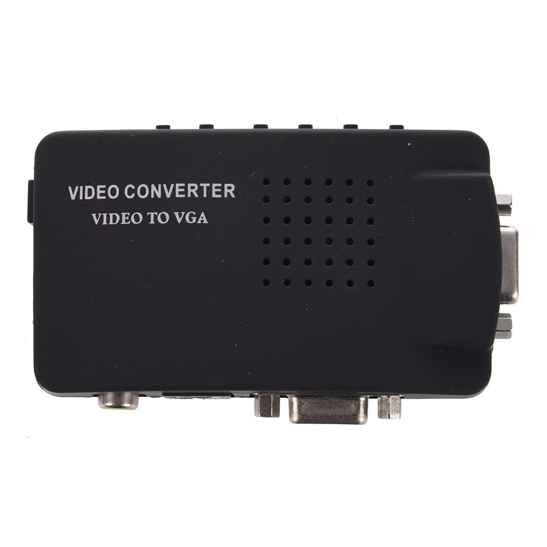 SODIAL(R) HD VGA to AV Converter RCA S-video Signal Adapter Switch Box PC to TV 25601600