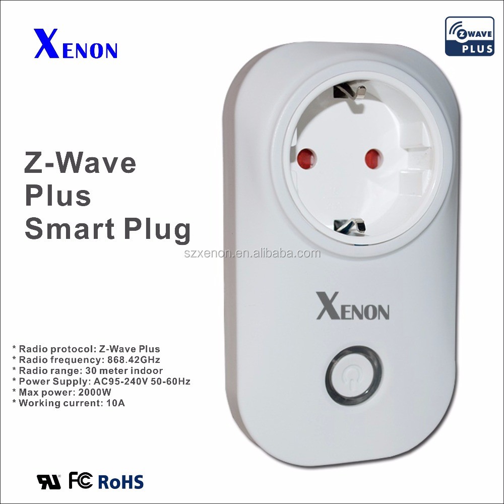 Xenon z-wave 908.42MHZ /868.42MHZ smart Wifi plug wifi socket wifi outlet in switch with 220v Power Socket
