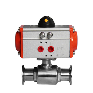 Double Acting Stainless Steel Sanitary Food Grade Pneumatic Actuator Ball Valve