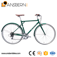 6061 Aluminum 700C 8 Speed Men's Retro City Bike ASB - CB - A02