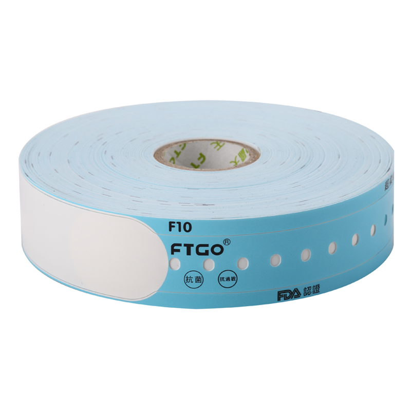 FTGO customizable printable eco friendly snap lock id wristbands
