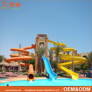 new technology design long Plastic water pipe water slide material