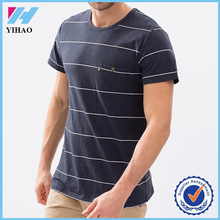 Yihao 2015 new fashion 100% cotton men striped t shirt wholesale dry fit mens clothing 2015