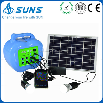 Professional production competitive price 20w home solar power systems kit