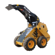 Manufacturer direct supply mini trencher wheeled loader with solid tyre with rim available