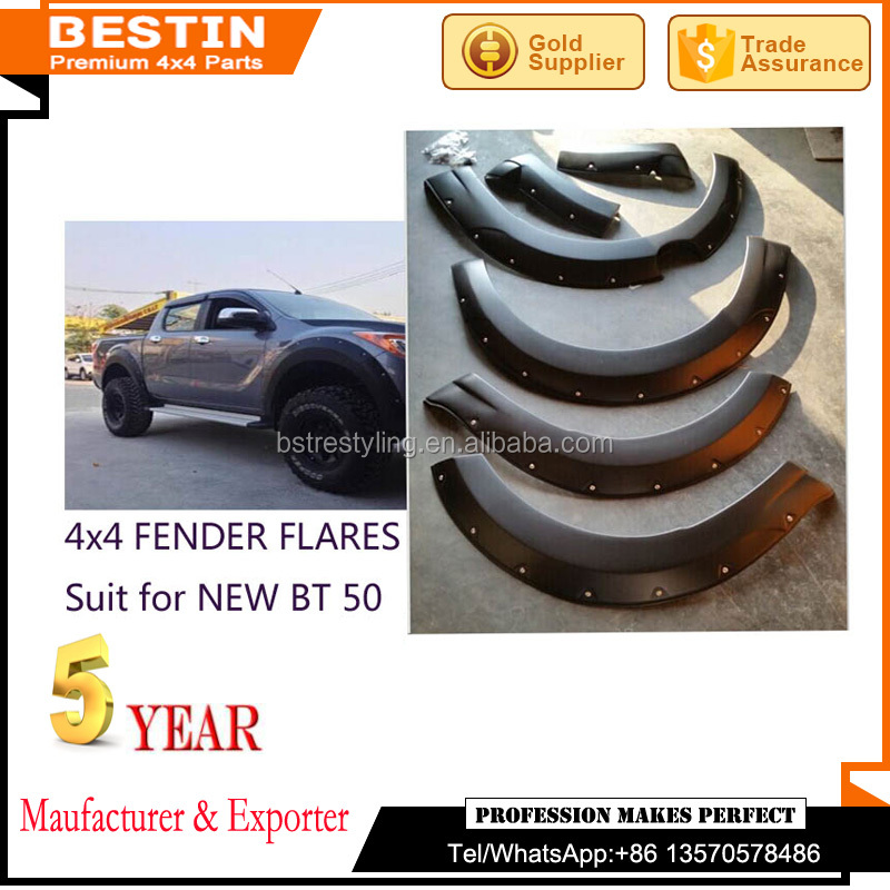 Manufaturer and wholesales FENDER FLARES for NEW BT 50