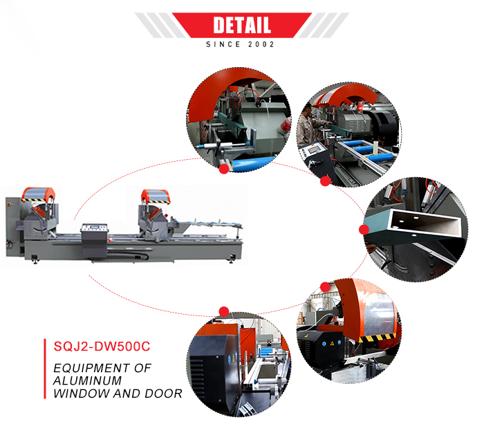 Aluminium machines voor ramen en deur double end cutting saw