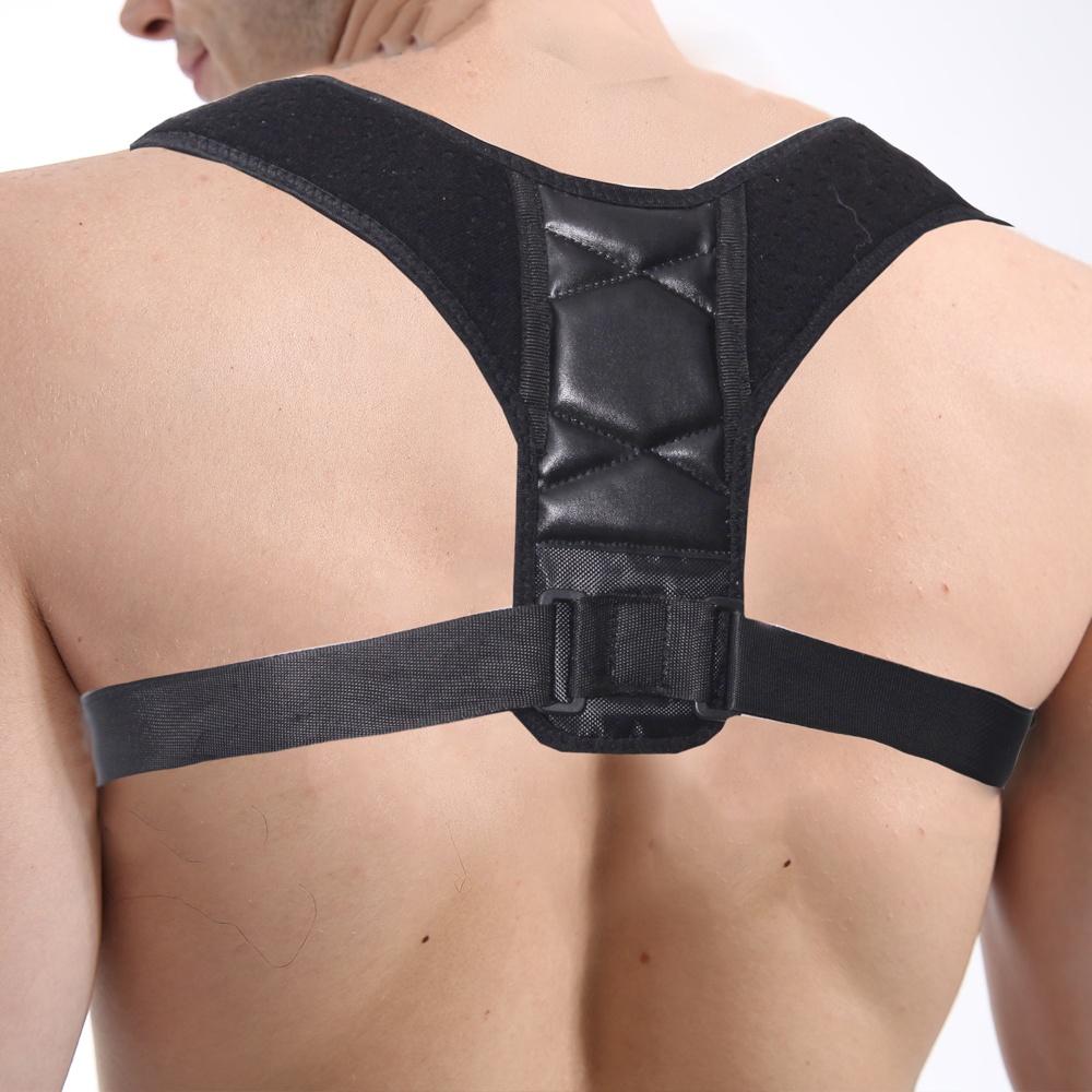 Adjustable Shoulder Support Correction Strap Brace Back Posture for Women & Men Posture Brace Corrector, Black