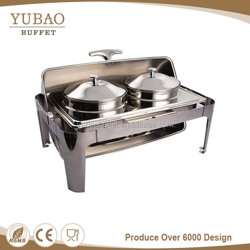 Hotel equipment whosale cheap fuel chafing dish hotel soup warmer station, luxury electric chafing dish for kettle soup