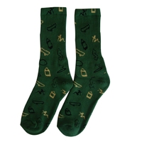 GSS-49 Hot sale high quality half terry plastice arch support men elit basketball socks print