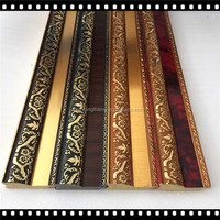Made in china retro red painting effect fancy design ps pictures frames strips/plastic frames photo moulding