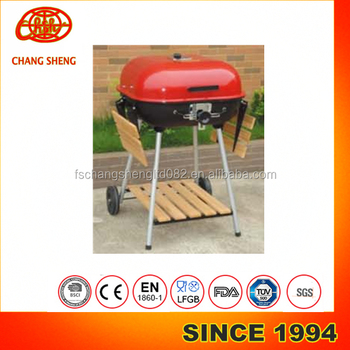 Superieur 22 Inches Square Hamburger Shaped Height Adjustable Trolley Barbecue Bbq  Grill With Wooden Table   Buy Height Adjustable Charcoal Bbq Grill,Grate ...